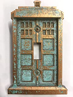 Tardis (Dr Who) Light Switch Cover (Custom) (Copper/Patina) Part 72