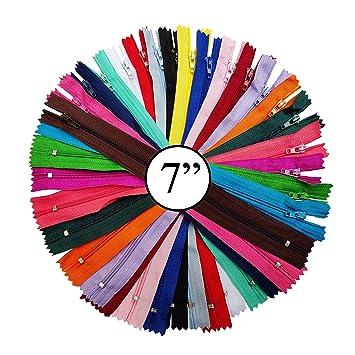 100 Unidades, 20 Colores Cremalleras de Nailon para Coser Manualidades WKXFJJWZC
