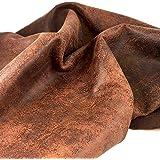 Rough Cut of 4oz Rough Rider Distressed Buffalo Leather Split (10 SQFT)