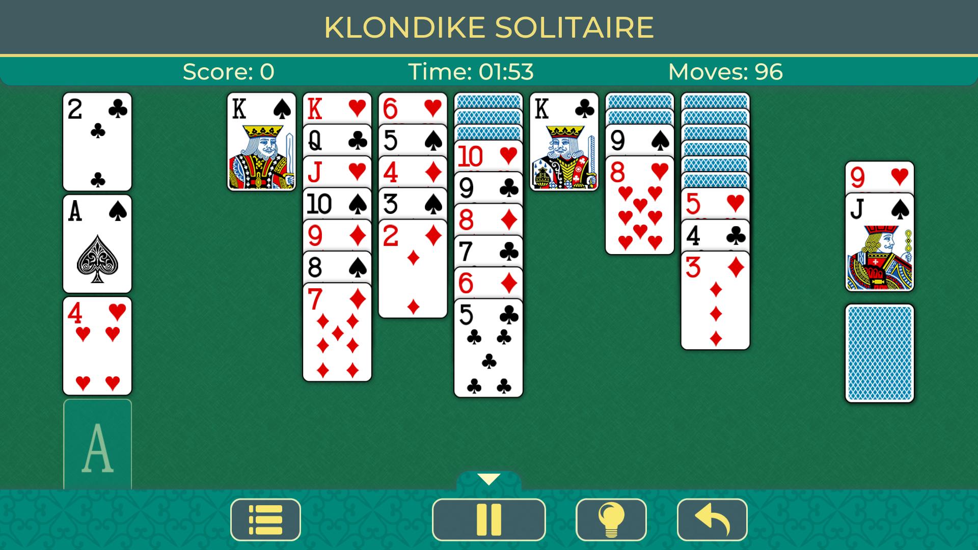 Klondike Solitaire. Clásico juego de cartas y paciencia