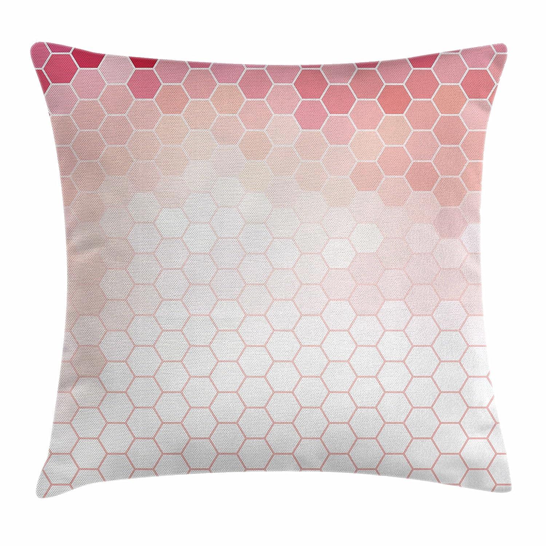 Amazon.com Lunarable Pale Pink Throw Pillow Cushion Cover