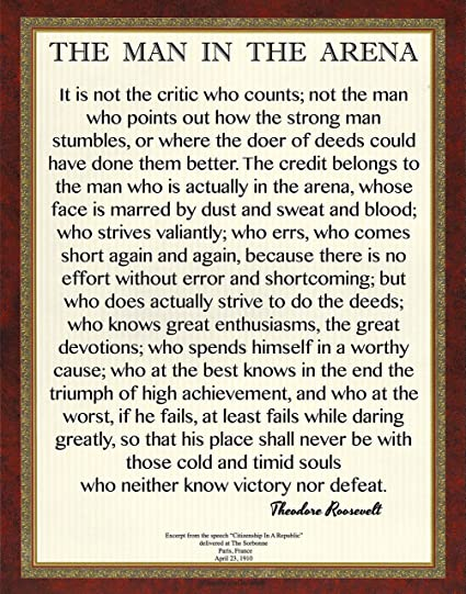 photograph regarding The Man in the Arena Printable called : Desiderata Gallery Model, 11x14 Text of Knowledge