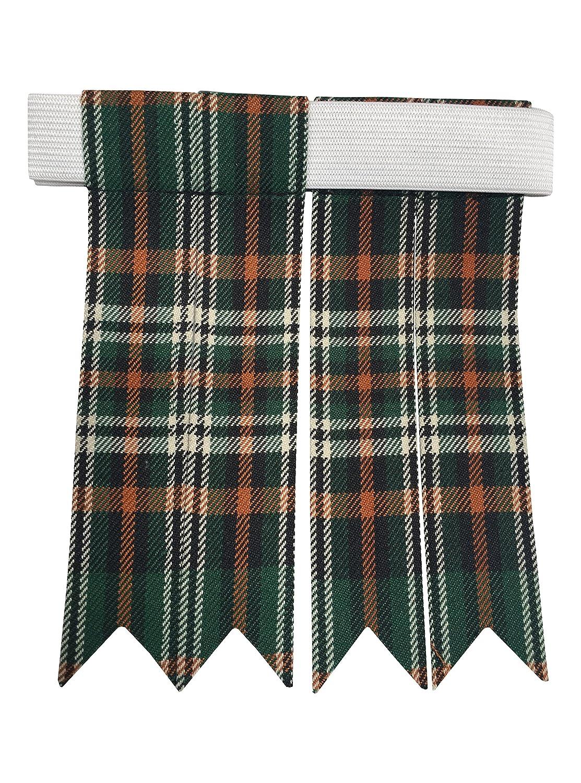TARTAN TWEEDS Scottish Kilt Hose Flashes Velcro Adjustable