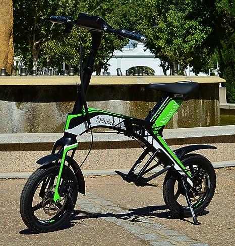 "Bicicleta scooter eléctrica 300W 14"" plegable MouneK M-01 batería ..."