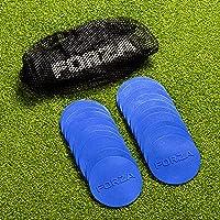FORZA Mini Flat Disc Markers [20 Pack] | Anti-Slip PVC Training Markers