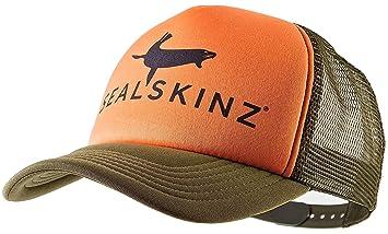 27137f158f0 SealSkinz Trucker Baseball Cap - Poppy Truck Hat Headwear Head Wear  Snapback Snap Back Upper