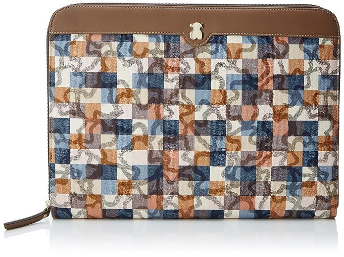 Tous Portadocumentos Kaos Vichy, Cartera para Mujer, Multicolor (Marrón/Azul) 2.5x23x31 cm (W x H x L): Amazon.es: Zapatos y complementos