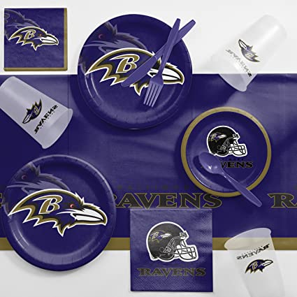 0f9ba171 Amazon.com: Creative Converting Baltimore Ravens Game Day Party ...