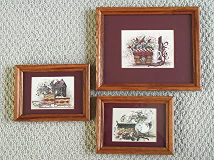Amazon.com: Set of Three Framed Prints By Pat Richter: Posters & Prints