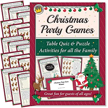 Christmas Eve Activities.Funtastic Christmas Party Games Table Quiz And Puzzle Activities For Family Office Xmas Parties