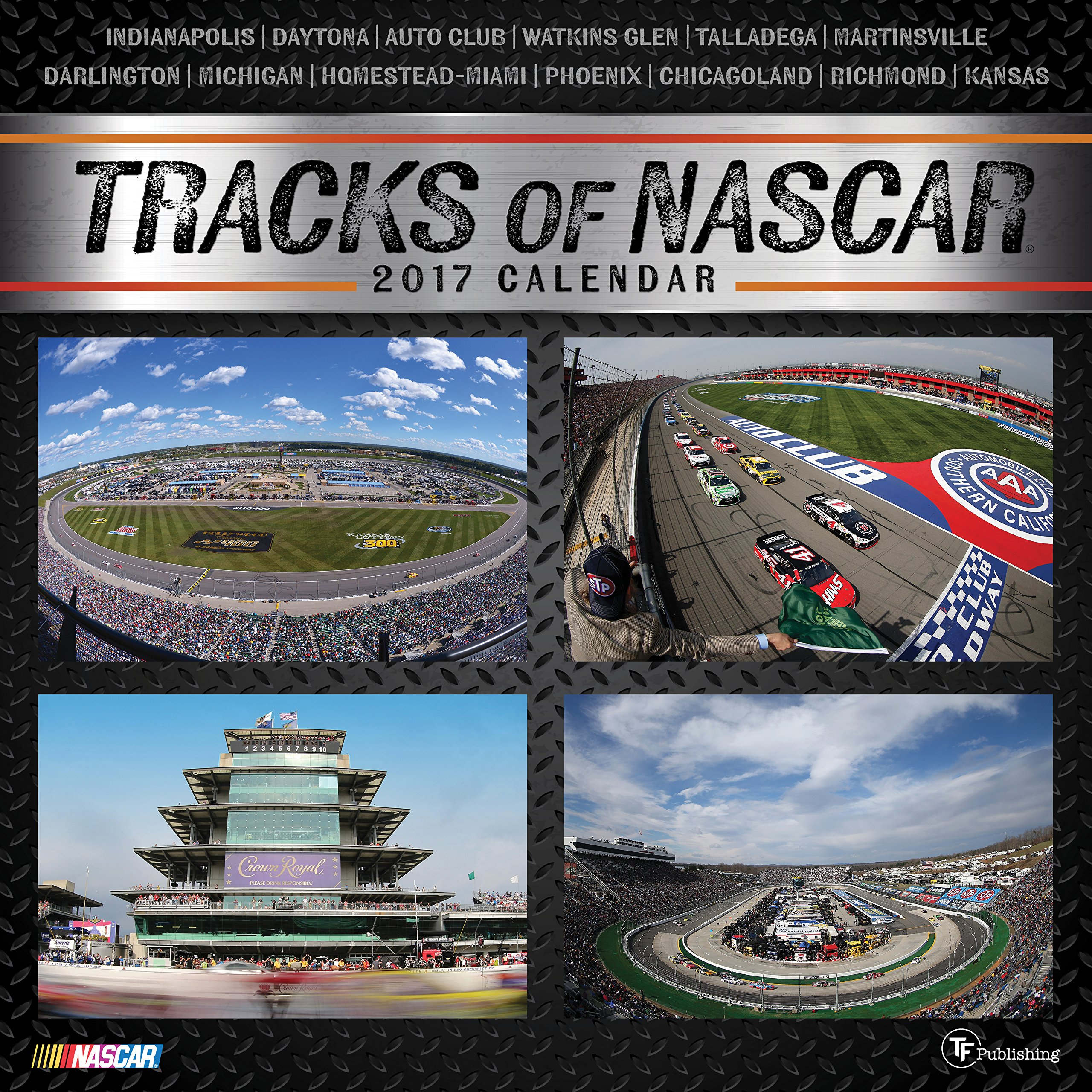 2017 Tracks of NASCAR Wall Calendar