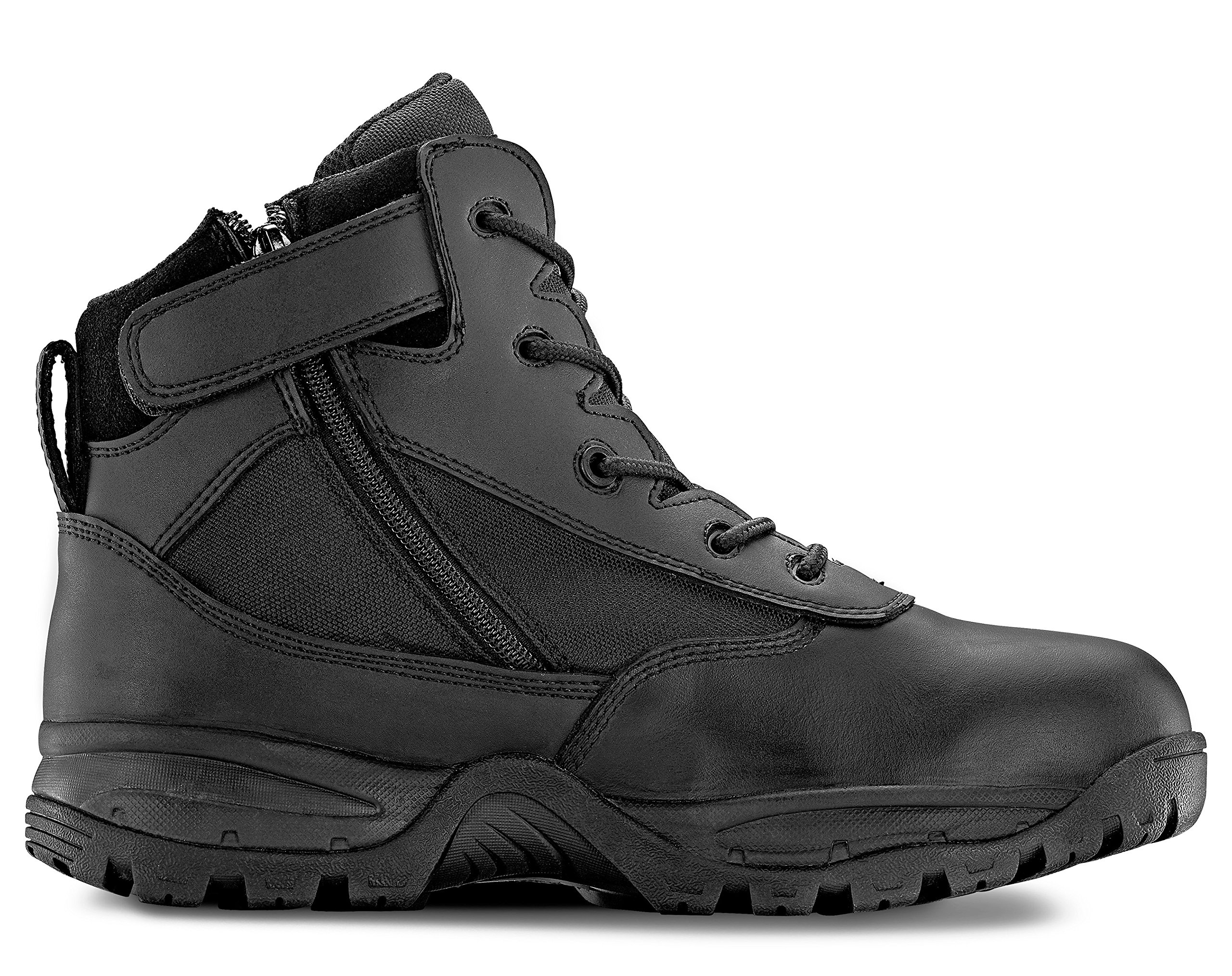 Maelstrom Men's PATROL 6'' Black Waterproof Boots with Zipper for Work, Law Enforcement, Tactical, Security and Military | Waterproof, Breathable, Comfortable | One Year Warranty, Size 8W by Maelstrom