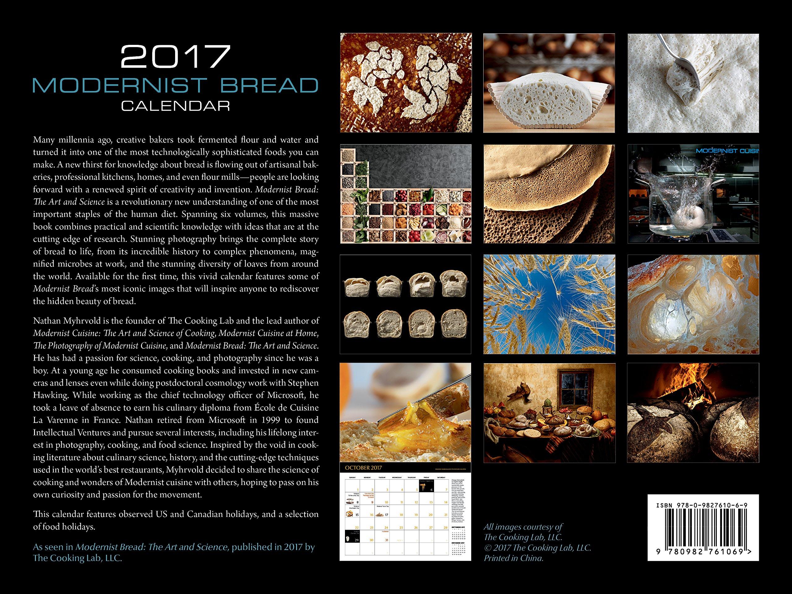 Modernist Bread 2017 Wall Calendar: Nathan Myhrvold: 9780982761069:  Amazon.com: Books