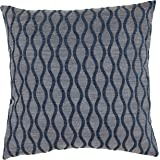 Amazon Brand – Rivet Mid-Century Wave Throw Pillow - 17 x 17 Inch, Indigo