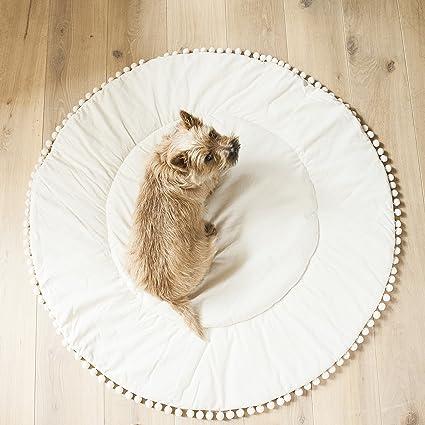 Manta de pompón de flamenco, manta redonda para bebé, manta ...
