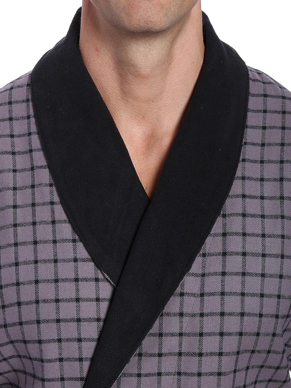 Noble Mount Mens Premium 100/% Cotton Flannel Fleece Lined Robe