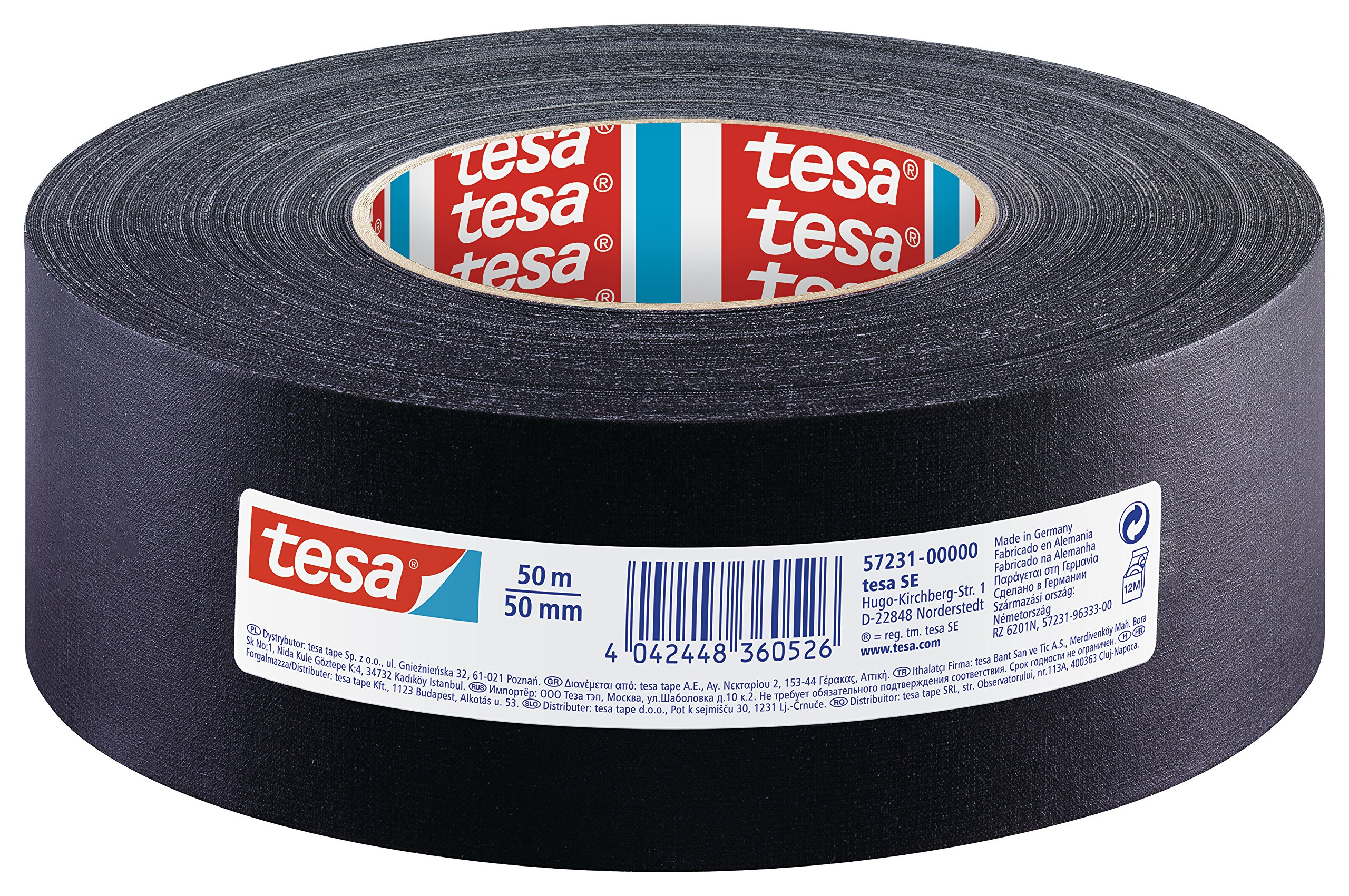 Tesa Extra Power Fabric Tape 19mm x 50m, Black, 57231-00000-02 by Tesa
