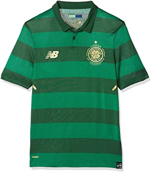 New Balance CFC Away Short Sleeve Camiseta de fútbol, Infantil, Verdant Green, Small