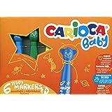 Carioca Caja de 6 rotuladores Baby Teddy Marker (42815)