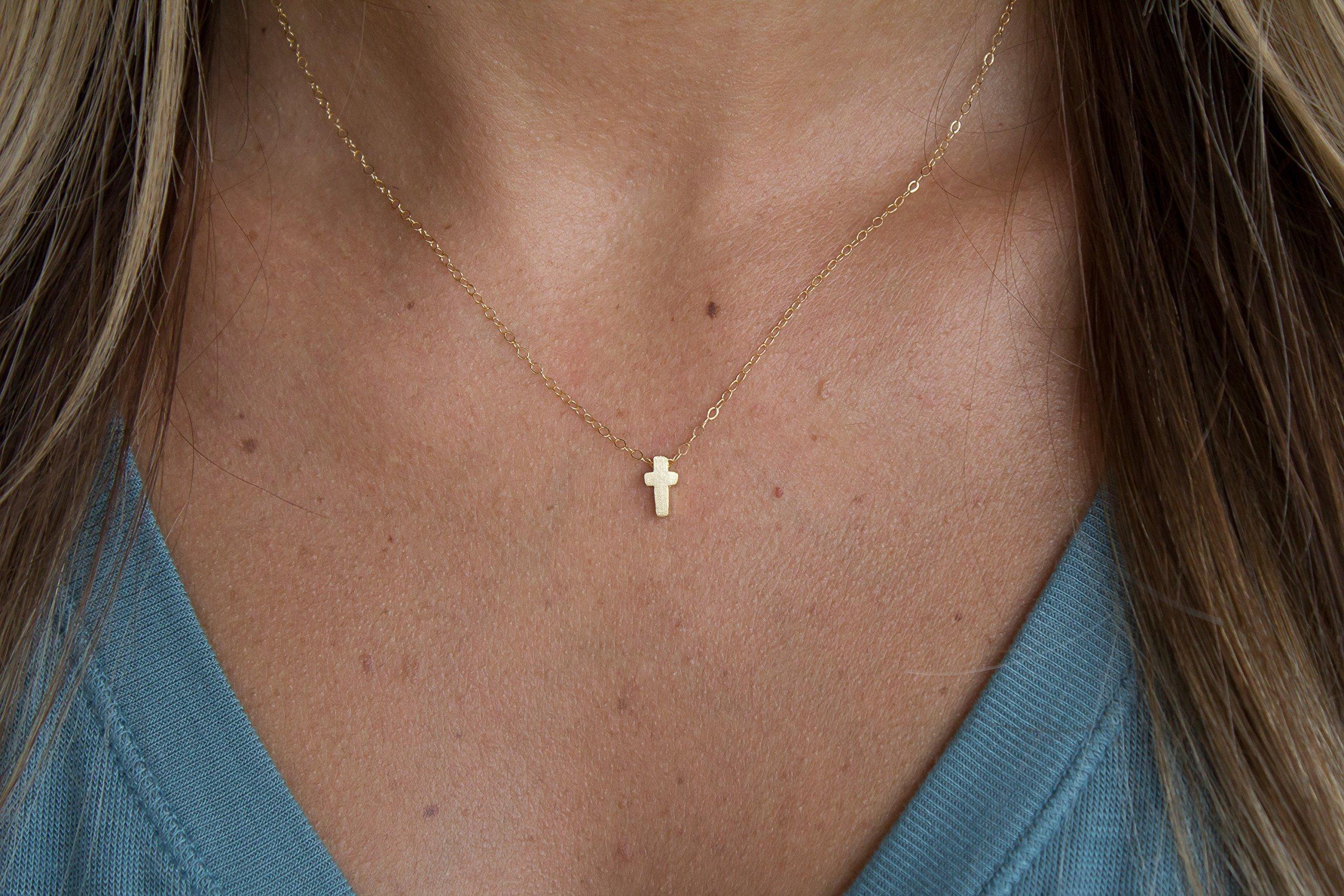 Mini Small Cross Necklace