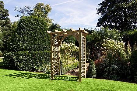 HGG arco de madera para jardín – Rosa arco – arco para jardín ...