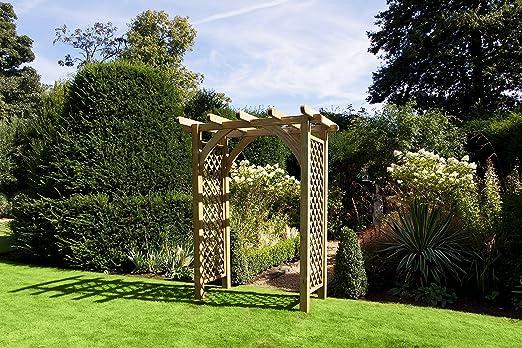 HGG arco de madera para jardín – Rosa arco – arco para jardín – Rosa arco madera: Amazon.es: Jardín
