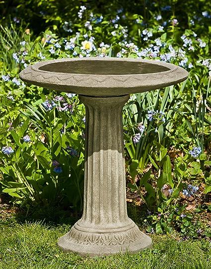 Campania International B 135 VE Cottage Garden Birdbath, Verde Finish
