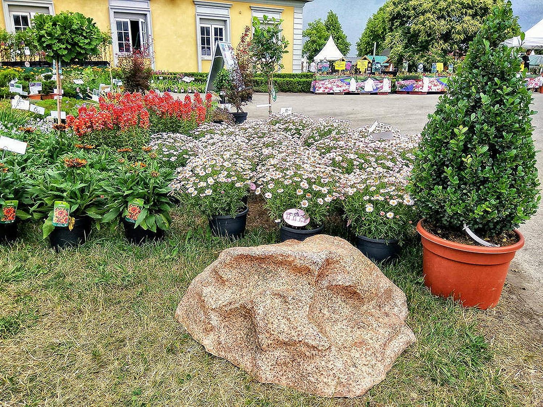 Piedra Jueca Decorativa para el Jardín Exterior, Grande Roca Artificial y Falsa para el Diseño de Patio para Ocultar Utilidades, Cubre 80 Centímetros M-02 (Rojo): Amazon.es: Jardín