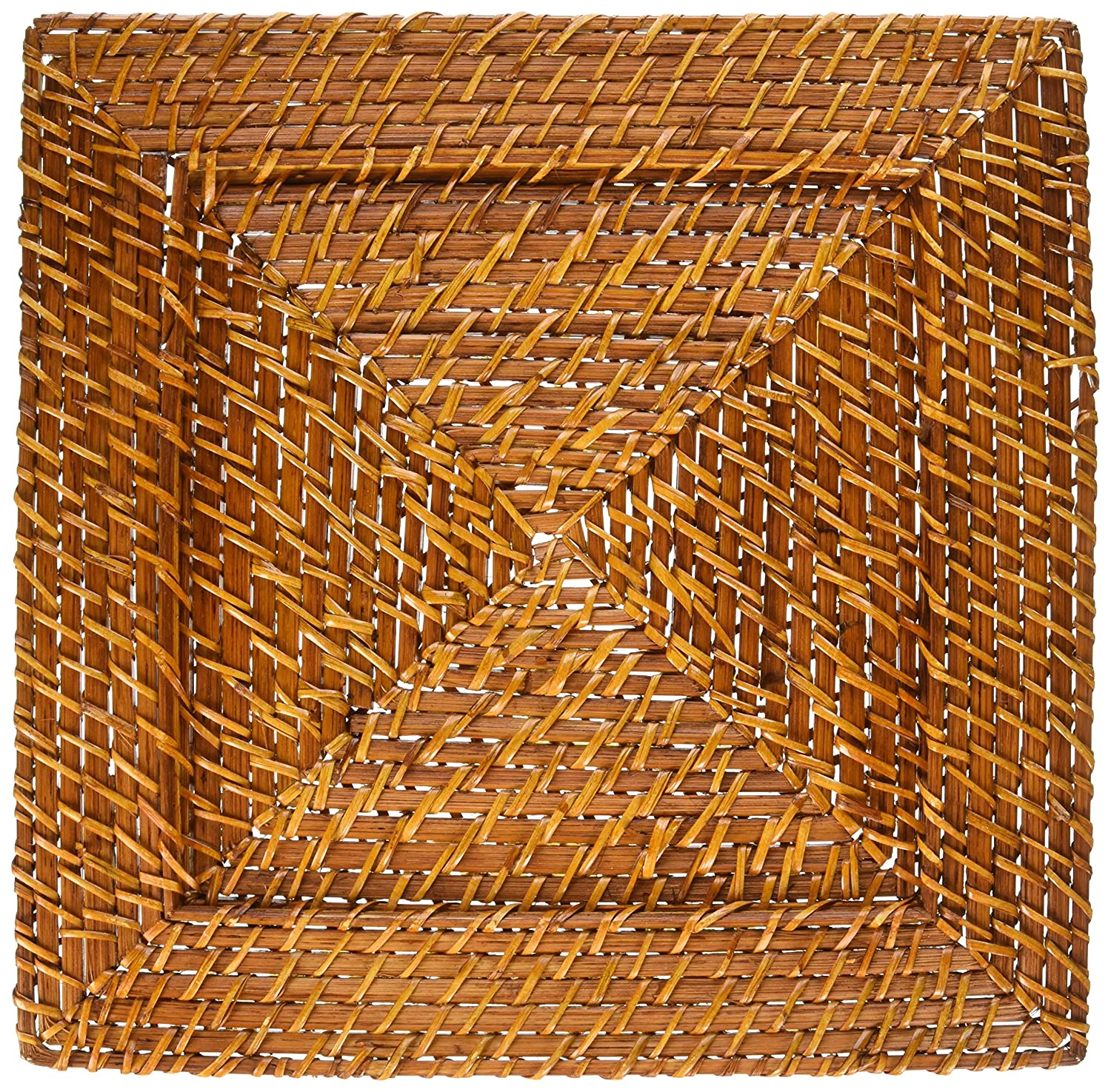 ChargeIt by Jay Square Harvest Rattan Charger, Brown Jay Imports 166415