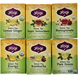 Yogi Tea Green Tea 6 Flavor Variety Pack (Pack of 6)