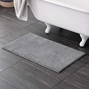 Welhome 100% Microfiber Drylon Non Slip Bath Rug - Latex Backing - Ultra Absorbent - Quick Dry - Soft - Durable - Hotel Spa Bathroom Collection -21