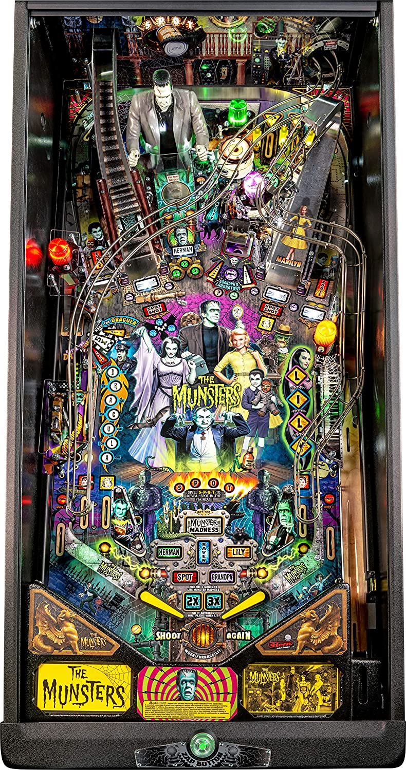 Stern Pinball Munsters Arcade Pinball Machine, Pro Edition