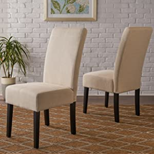 Christopher Knight Home Pertica Fabric Dining Chair, Beige
