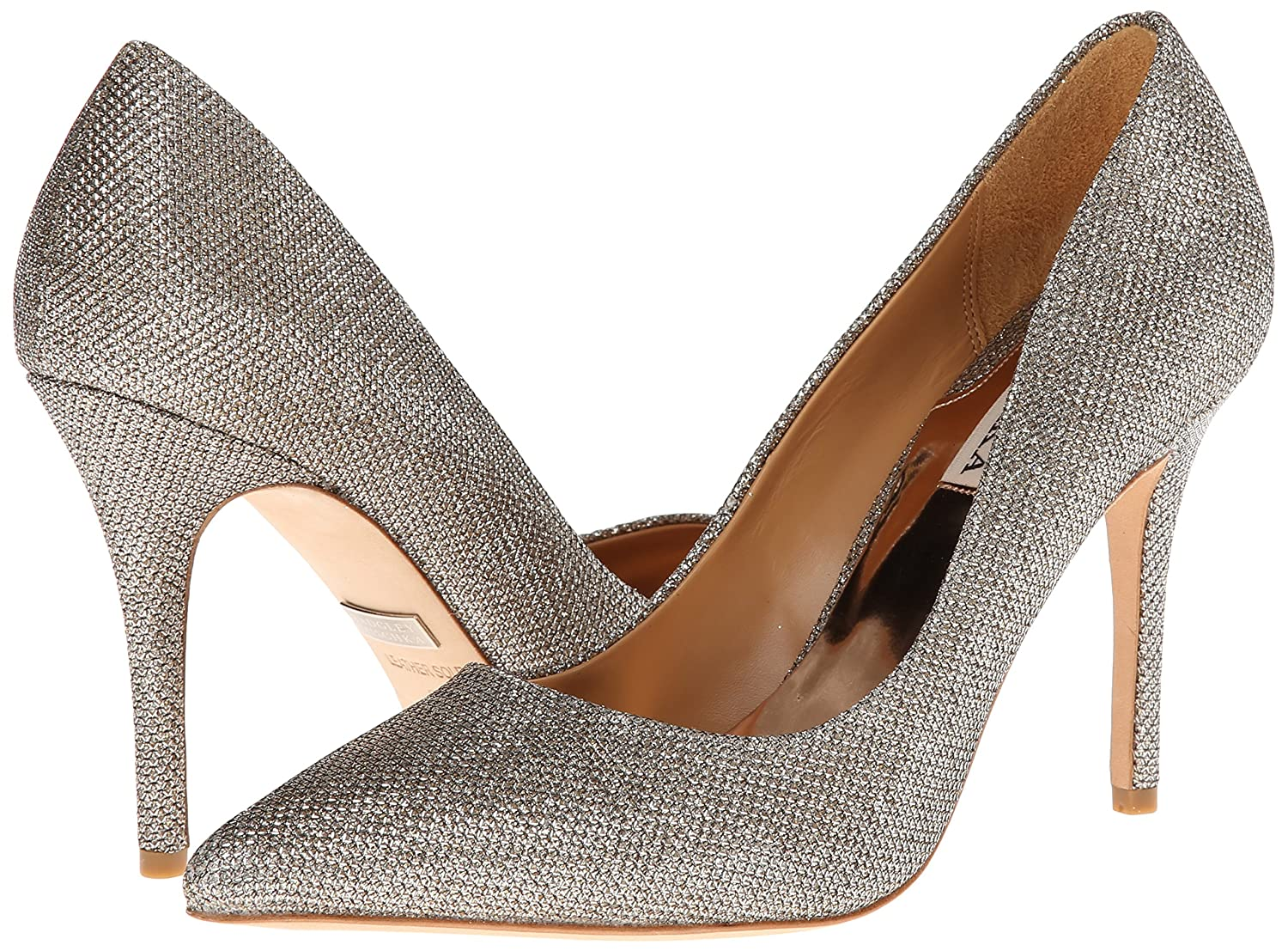 Amazon Badgley Mischka Women s Luster Dress Pump Platino 5 5