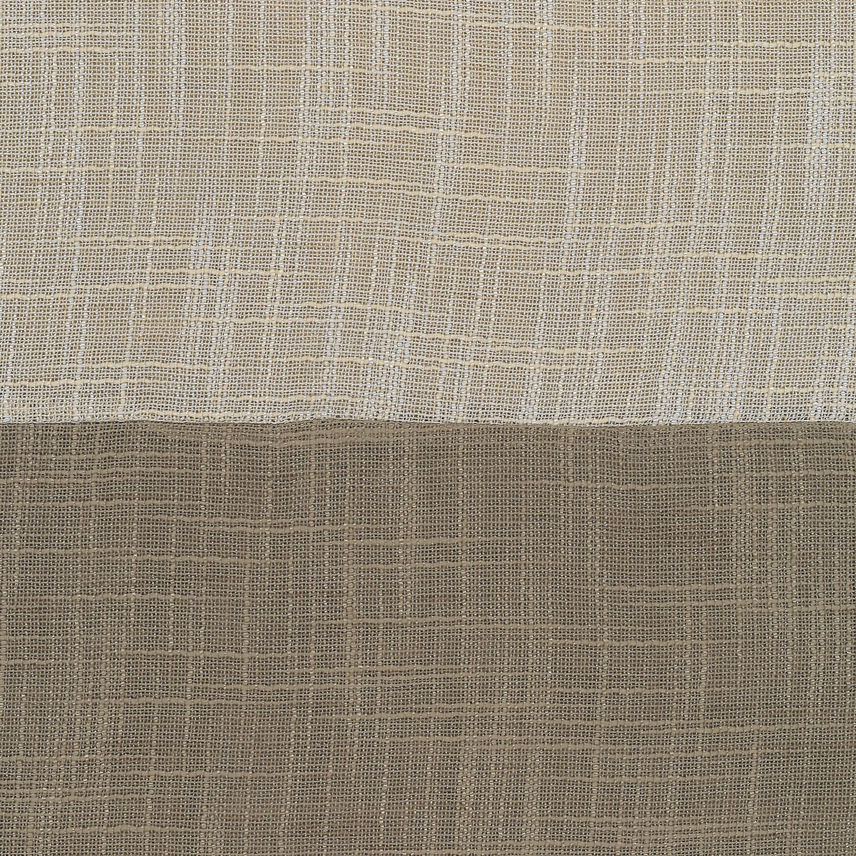 52 x 95 Elrene Home Fashions 26865876390 Colorblocked Grommet Sheer Single Panel Window Curtain Drape Gray 52 x 95