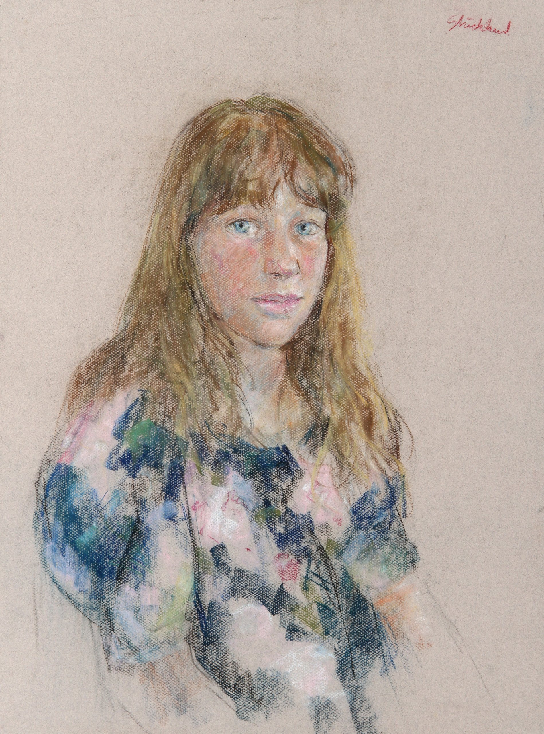 Portrait of a Girl with Bangs