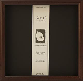 product image for Frame USA Shadow Box Showcase Series 12x12 Wood Frames (Cherry)