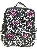 Vera Bradley Ultimate Backpack Canterberry Magenta Solid Black inside