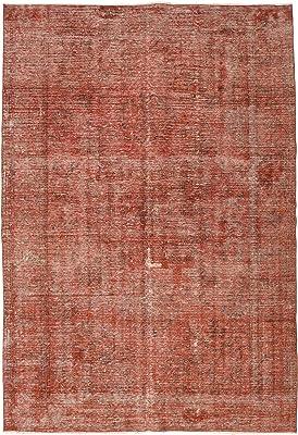 """RugVista Colored Vintage Rug 6'4"""" x9'3 (193x282 cm) Modern Carpet"""