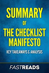 Summary of The Checklist Manifesto: Includes Key Takeaways & Analysis Kindle Edition