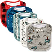 Rosie Pope Baby Boys Bibs 5 Pack, Camping Theme, One Size
