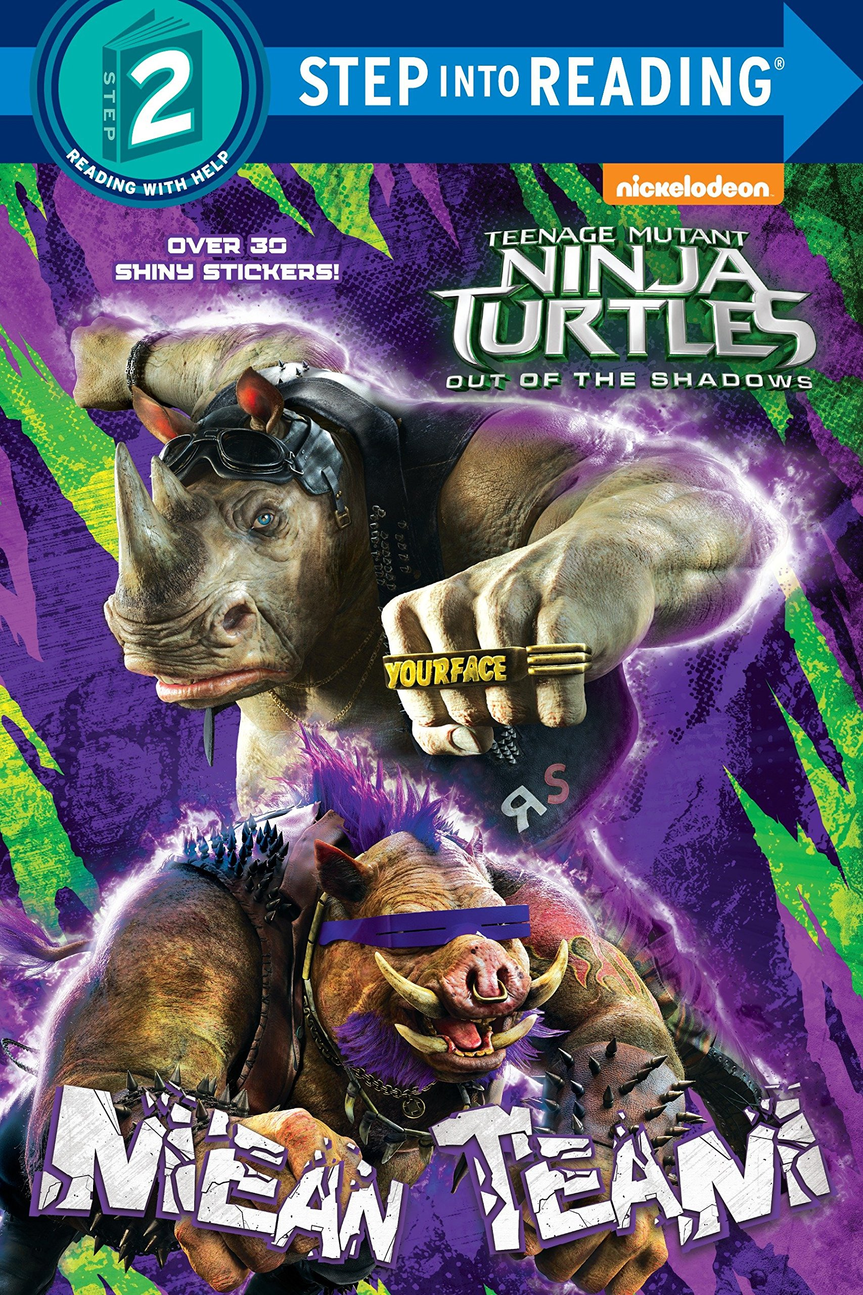 Amazon Com Mean Team Teenage Mutant Ninja Turtles Out Of The Shadows Step Into Reading 9781524701734 Random House Spaziante Patrick Books