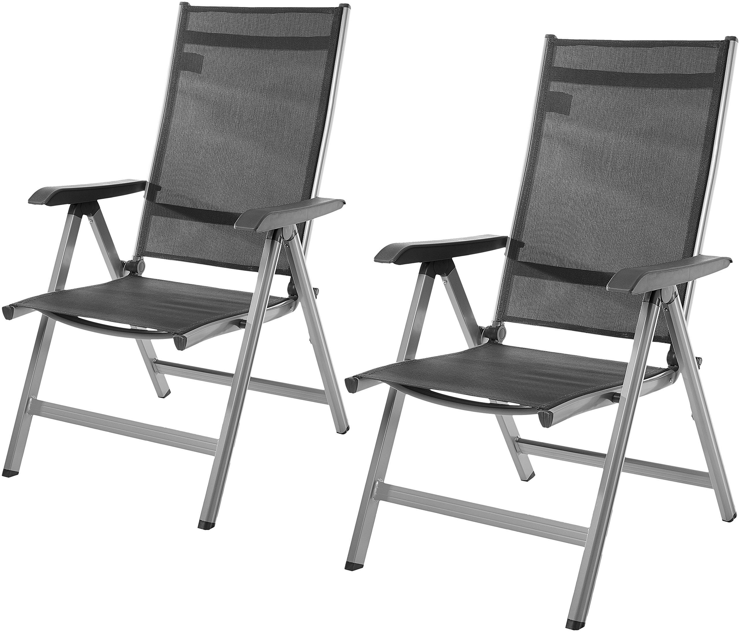 AmazonBasics - Silla para exteriores ajustable en 5 posiciones, Juego de 2 product image