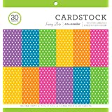 "Colorbok Cardstock Paper Pad, 12"" x 12"", Bright Spots"
