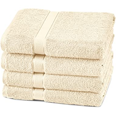 Pinzon 4 Piece Egyptian Cotton Bath Towels Set - Cream