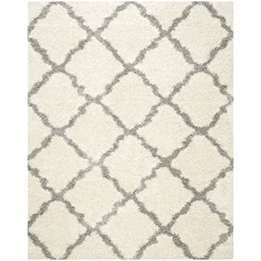 Safavieh Dallas Shag Collection SGD257F Ivory and Grey Area Rug (6' x 9')