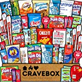 CraveBox Care Package (45 Count) Snacks Cookies Bars Chips Candy Ultimate Variety Gift Box Pack Assortment Basket Bundle Mixe
