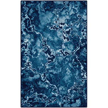 Brumlow Mills EW10085-40x60 Blue Mercury Contemporary Abstract Area Rug, 3'4  x 5'