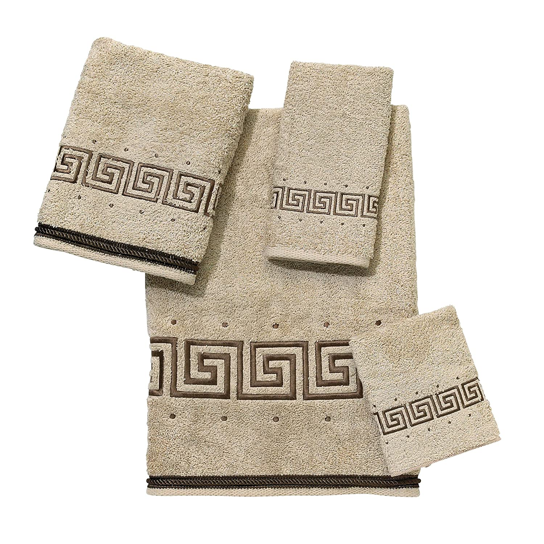 4-Piece Towel Set Avanti Linens Premier Athena  Embroidered 4-Piece Decorative Towel Set Linen