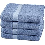 Pinzon 4 Piece Egyptian Cotton Bath Towels Set - Wedgewood